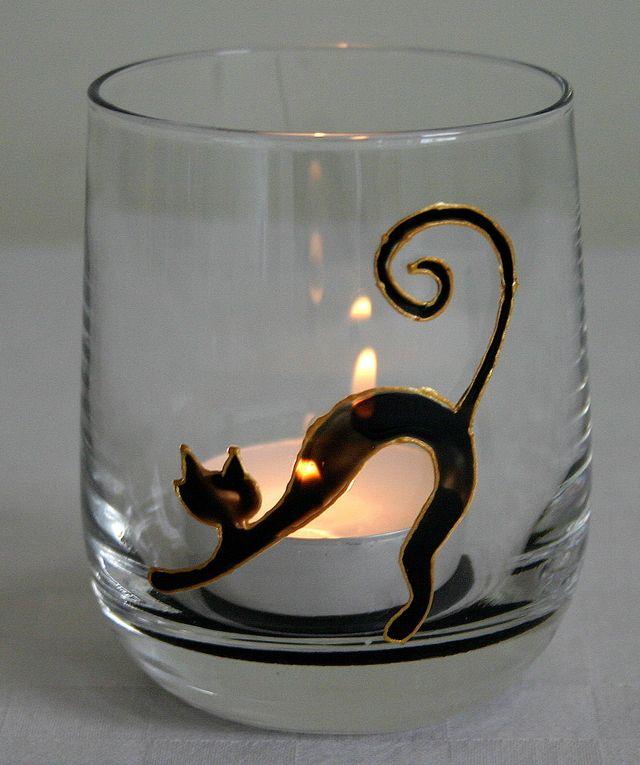 Les 25 meilleures id es de la cat gorie peinture sur verre for Modele de peinture decorative