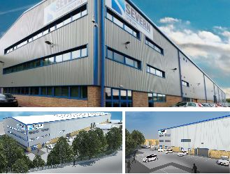 New Factory Visuals, Brighouse Commissioned to produce final 3D renders for a proposed new factory and offices in support of the planning application.