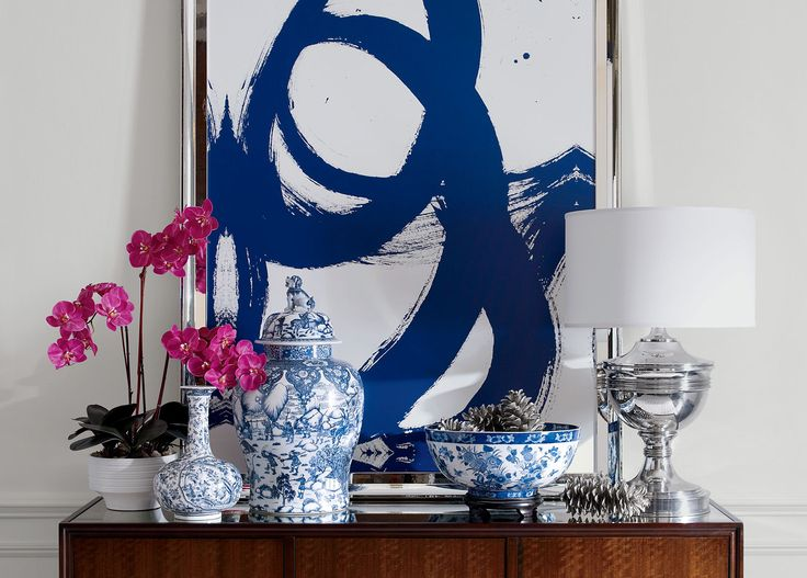 Blue and White Porcelain Vase - Ethan Allen