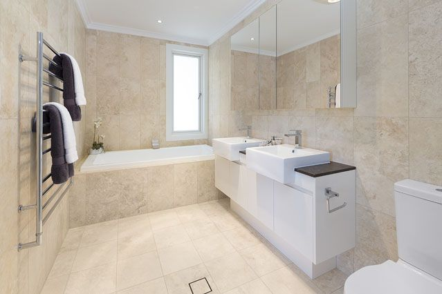 Marble bathroom from Award Winning Wahroonga House