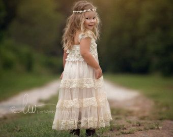 lace flower girl dress flower girl dresses lace by PoshPeanutKids