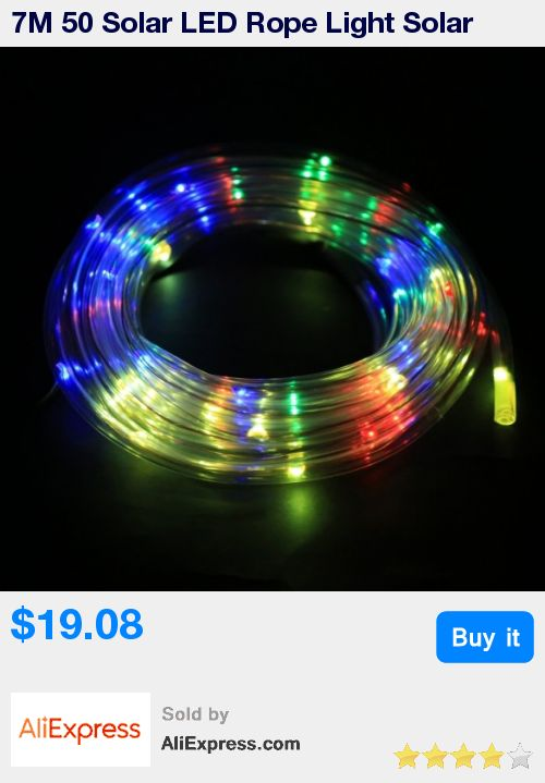 7M 50 Solar LED Rope Light Solar Multi-color Christmas Party Outdoor Decor Lights String * Pub Date: 08:34 Apr 11 2017