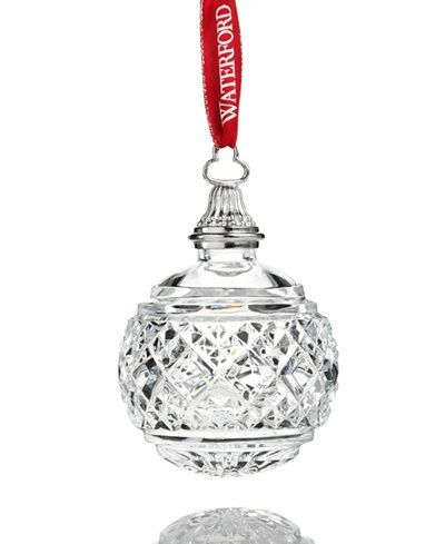 Waterford 2017 Macy's Exclusive Clear Ball Ornament