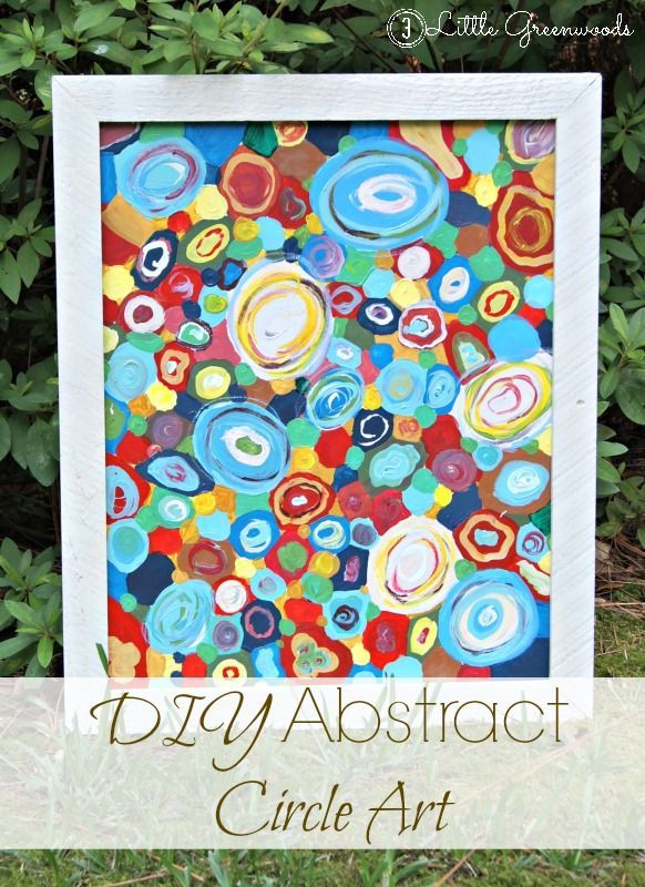 AMAZING tutorial for DIY Abstract Circle Artwork by 3 Little Greenwoods #DIYArtw...