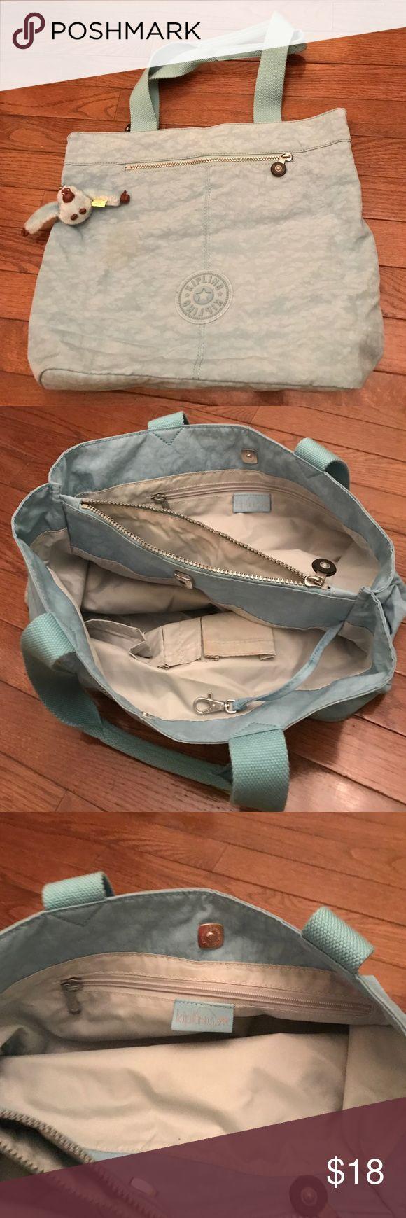 Large Kipling handbag turquoise blue Large multi packet Kipling bag, 95% new. Kipling Bags Totes