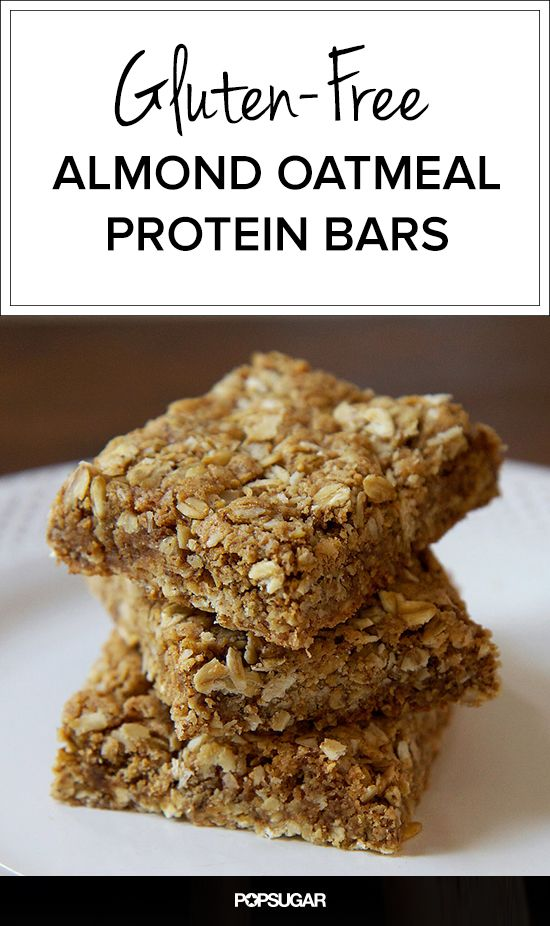 Protein-Packed Breakfast Bars You Might as Well Call Cookies; made with oats, almond butter, and unsweetened coconut