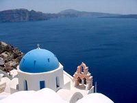 Honeymoon in santorini, greece