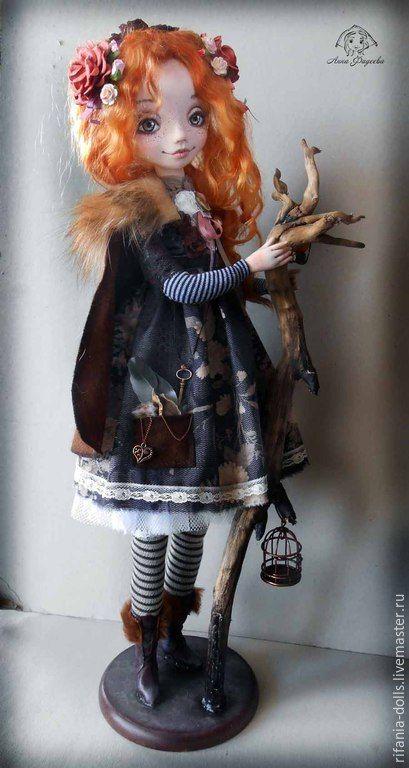 Лесная фея - рыжий, фея, коллекционная кукла, интерьерная кукла, ручная работа, handmade doll