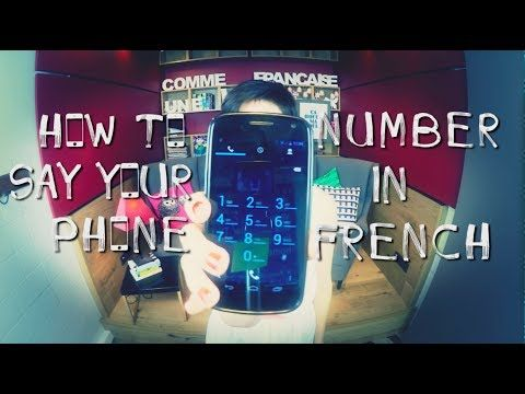 How to give your phone number in French - YouTube
