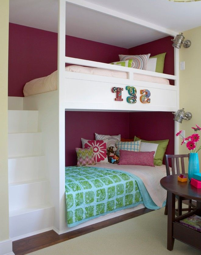 Custom Bunk Beds Kids Beach Style With Pale Green Wall Traditional Loft