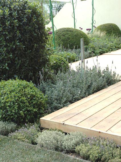 växter inpå altan