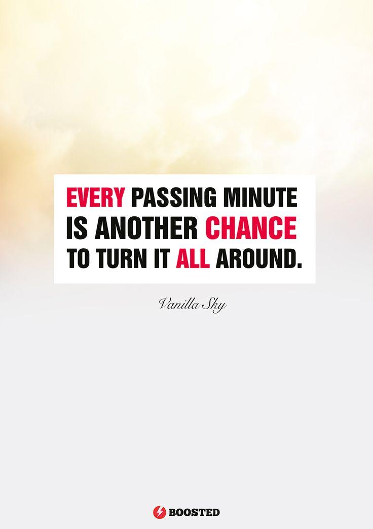 Motivační plakát Každá následující minuta (Anglicky)
