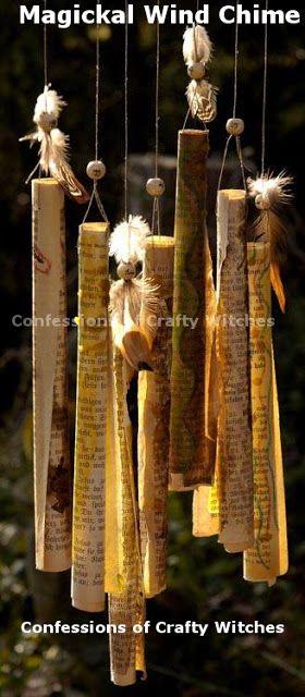 Magickal Paper Wind Chimes