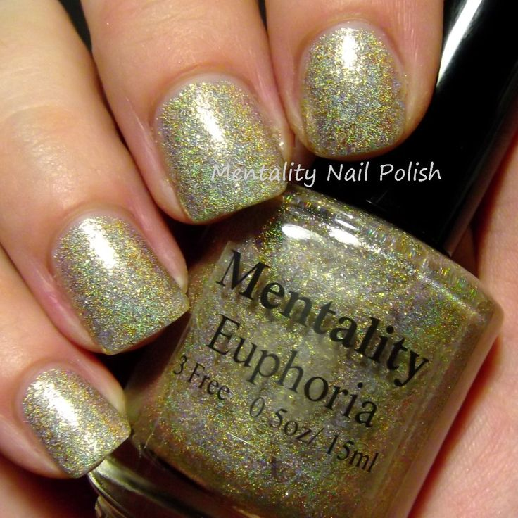Mentality Nail Polish, Euphoria - Three coats. Swatch shows semi-gloss finish. Also available in matte.
