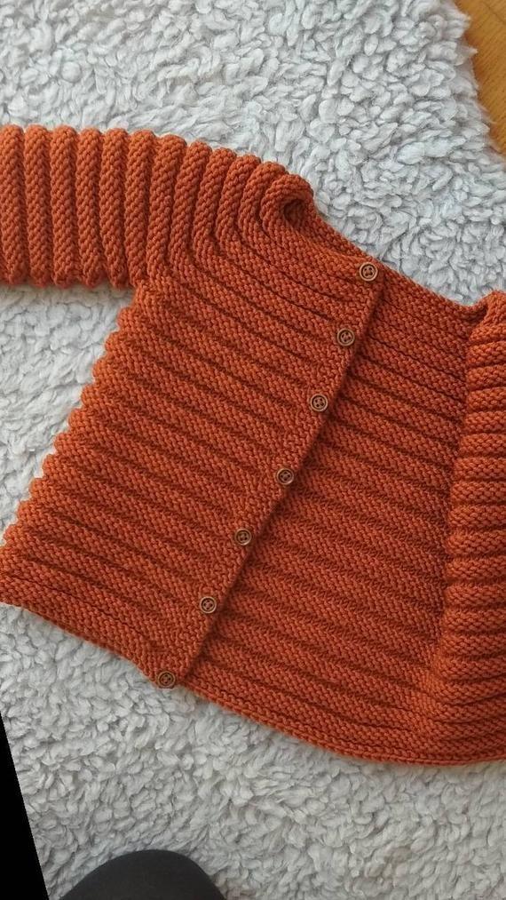 830123b61b83 Knit baby cardigan - merino knit baby cardigan - handknit sweater ...