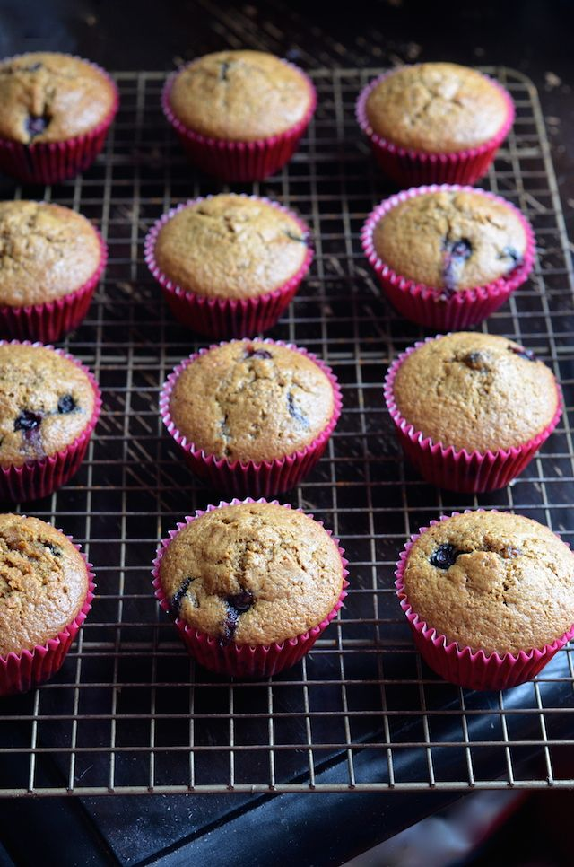 The Best Paleo Blueberry Muffins from @alejandraramos