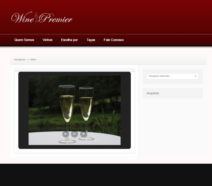 Site de vinho  www.winepremier.com.br