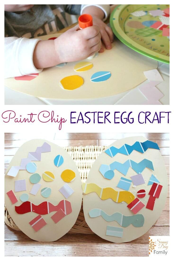 205 best easter ideas images on pinterest easter ideas paint chip easter egg craft negle Image collections