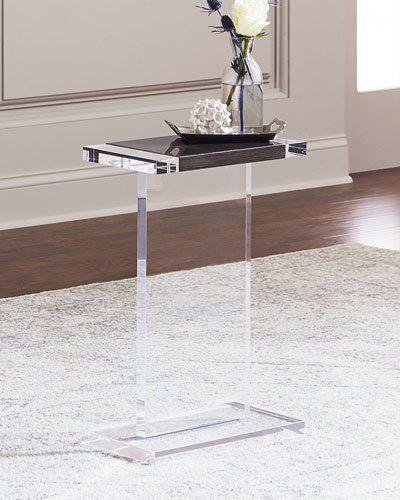 Waldo Rectangle Acrylic Side Table