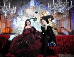 Me and Alba Parietti at Il Ballo del Doge at Venice Carnival
