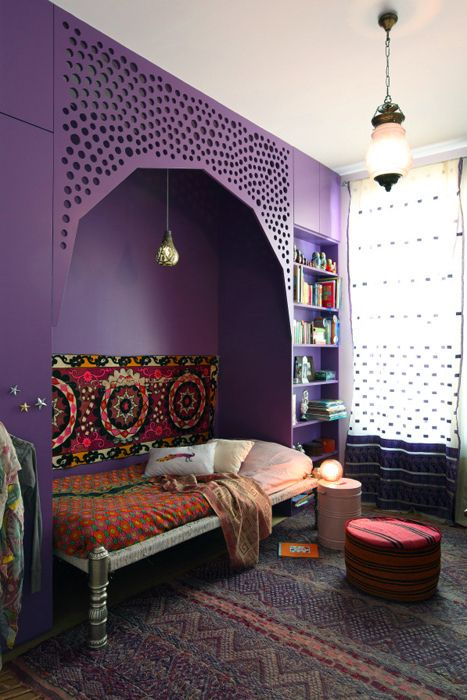 Turkish day bed. I'll be opening up a closet in the future and recreating something beautiful like this! Just don't know when yet ;)