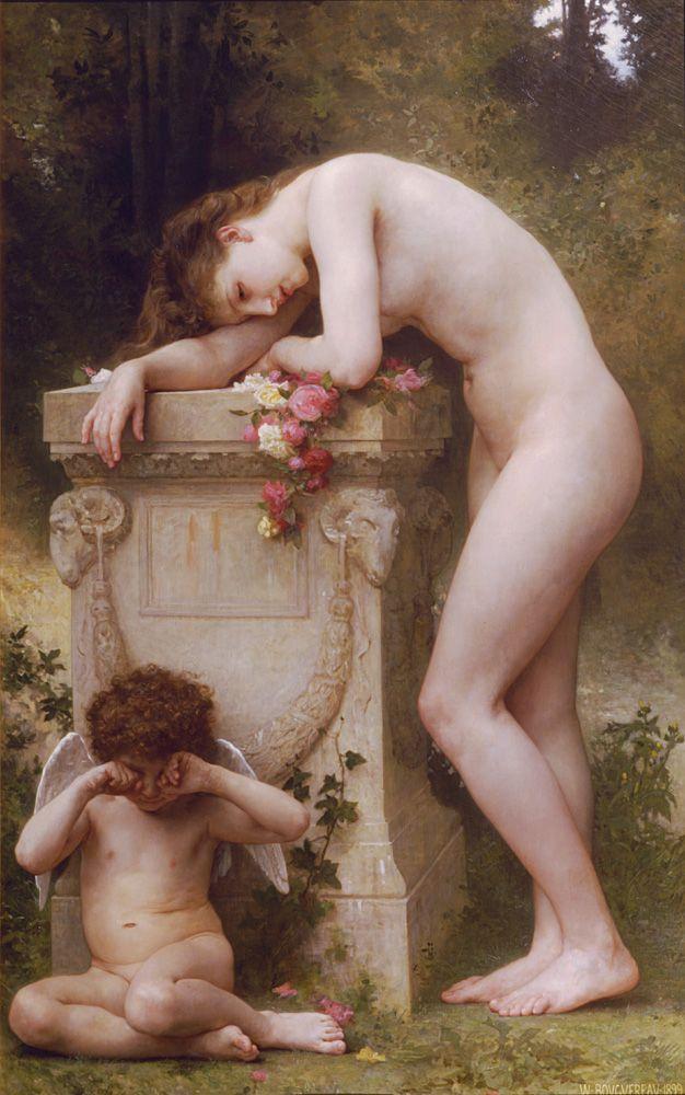 William Adolphe Bouguereau (William Bouguereau): Douleur d'amour