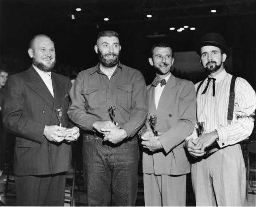 Winners of the beard contest. Courtesy of the Tacoma Public Library Image Archive.