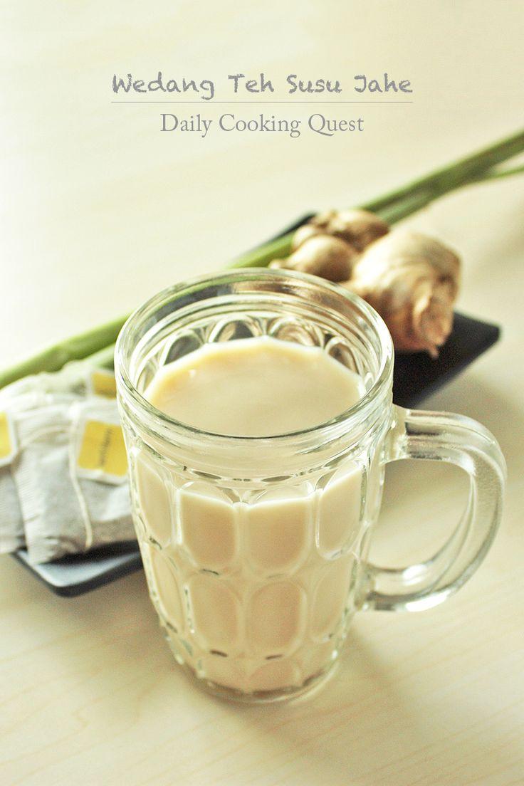 Wedang Teh Susu Jahe - Ginger Milk Tea | Dailycookingquest