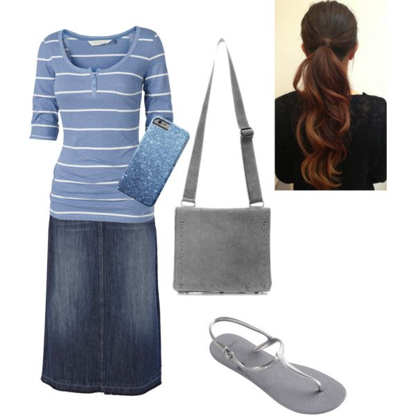 A fashion look from May 2015 featuring Fat Face t-shirts, Oasis skirts and Havaianas flip flops. Browse and shop related looks.
