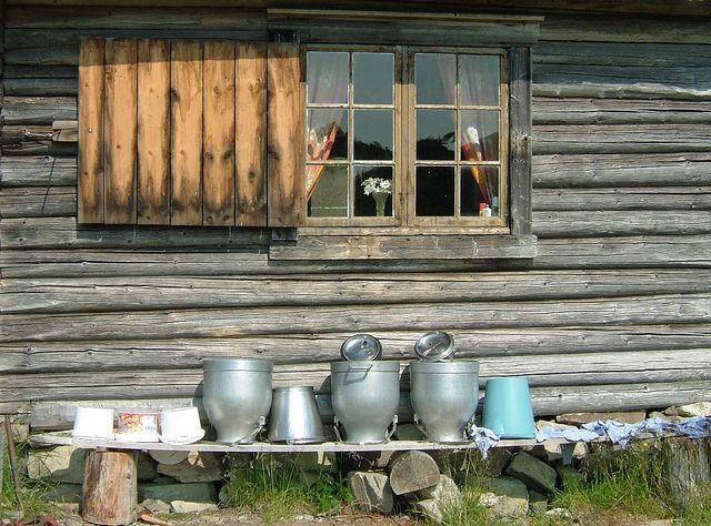 Ekne i Nord-Trøndelag. Summer farm in Levanger