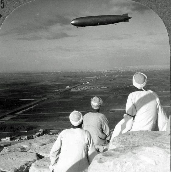 Graf Zeppelin above Egypt.