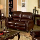 Found it at Wayfair - Charlotte Leather Reclining Loveseat