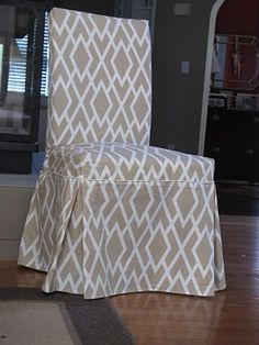 tutorial: how to sew Parsons chair slipcovers {includes pattern to fit IKEA's Henriksdal dining chairs}