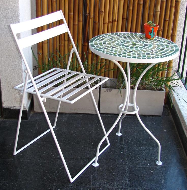 25 mejores im genes de mesas con venecitas y sillas de - Mesas de hierro para jardin ...