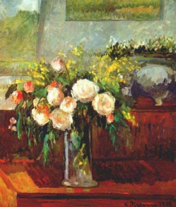 pissarro roses 1902. Камиль Писсарро