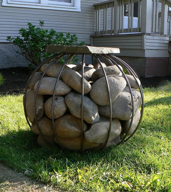 68 best images about decorative gabions on pinterest for Decorative river stones