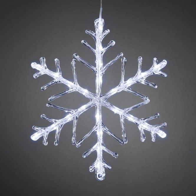 Hurn  Hurn Discoveries Snowflake Outdoor Christmas Light 40cm White