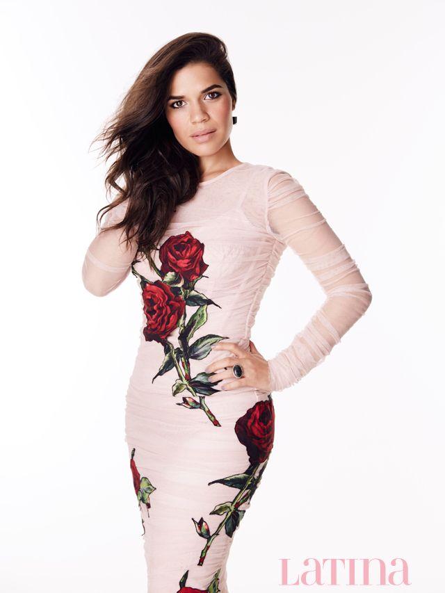 America Ferrera by John Russo for Latina Magazine February 2016 - Dolce&Gabbana Fall 2015