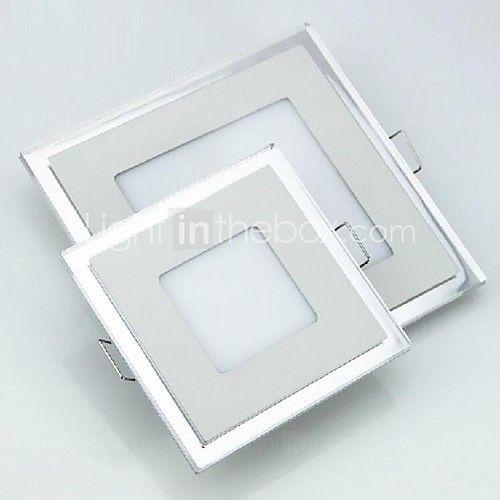 6W Square Double Color LED Panel Light Ultrathin LED ...