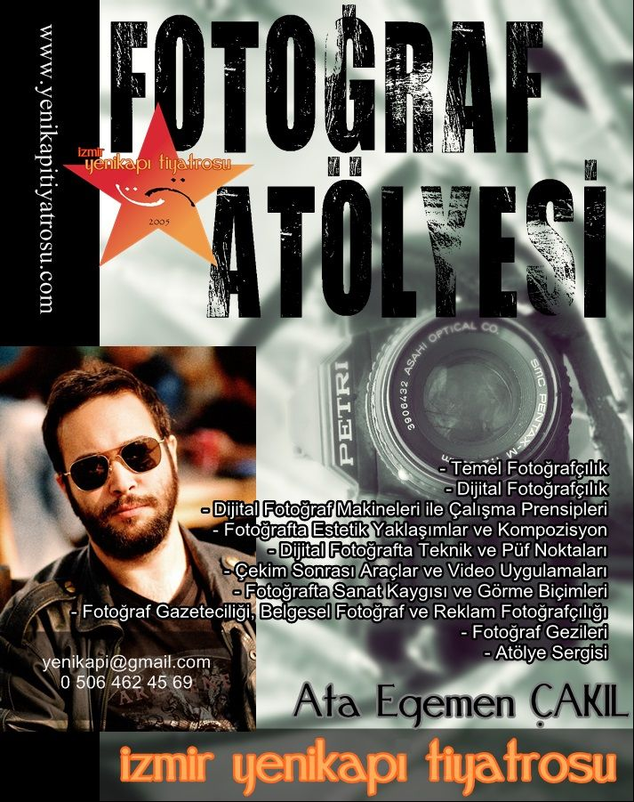 Eylül 2013 - Ata Egemen Çakıl Fotoğraf Atölyesi duyurusu için tasarladığım afiş.