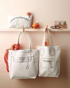 Create a handy tote bag version of a designer handbag. | 23 DIY Ways To Fake It Until You Make It