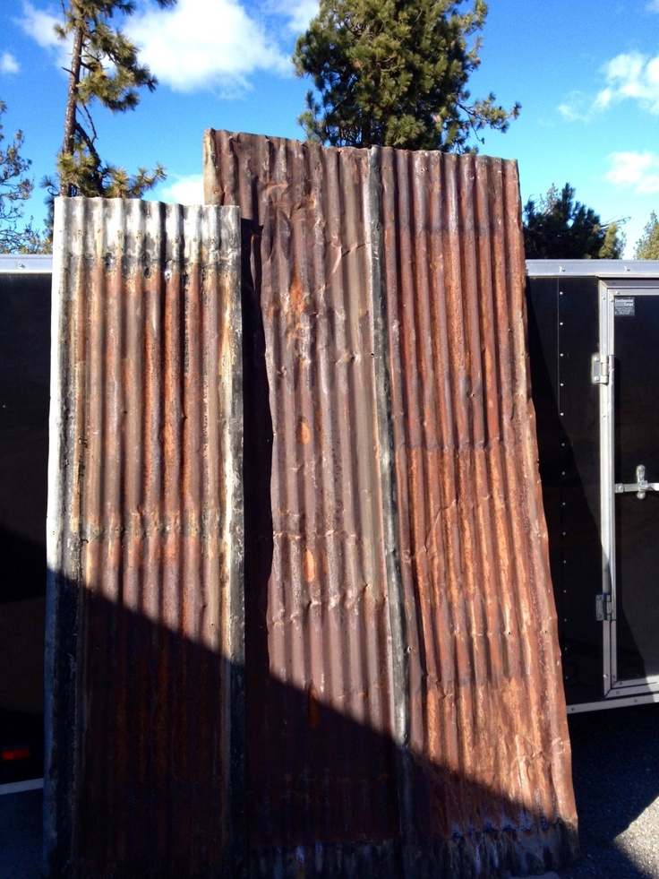 """Rusty barn metal roofing for sale! 27""""w 8'l $20.00 and 9'l ..."""