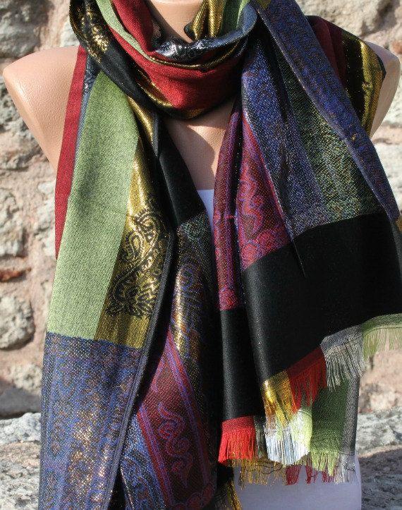 ON SALE - Aztec Scarf  Shawl Scarf Multicolor  -  Cowl Scarf  Women's fashion