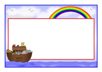 Noah's Ark A4 page borders (SB9093) - SparkleBox