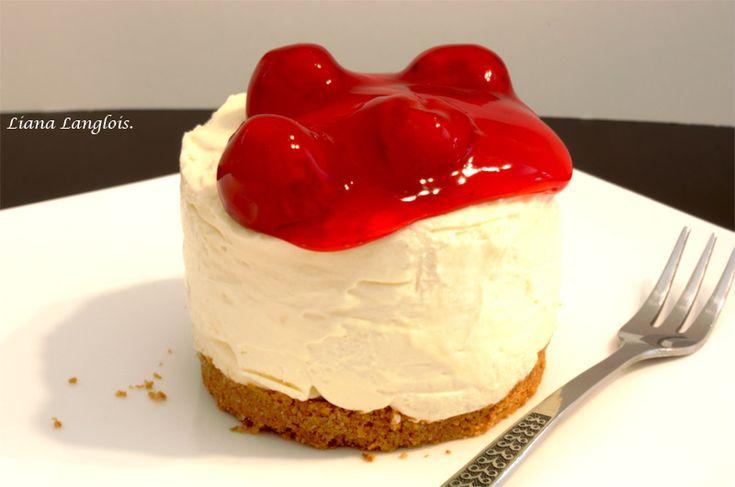 No Bake Cherry Cheesecake Easy Recipe For  cakepins.com