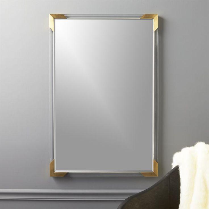 Best 25 acrylic frames ideas on pinterest acrylic picture cb2 demi rectangle acrylic mirror 36 solutioingenieria Images