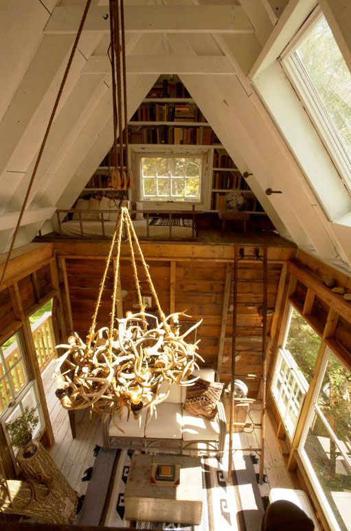 Inside of an amazing treehouse