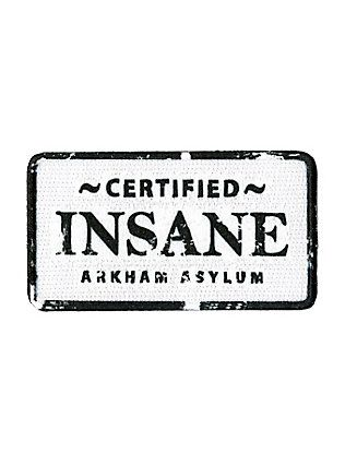 DC Comics Batman Arkham Asylum Insane Iron-On Patch,