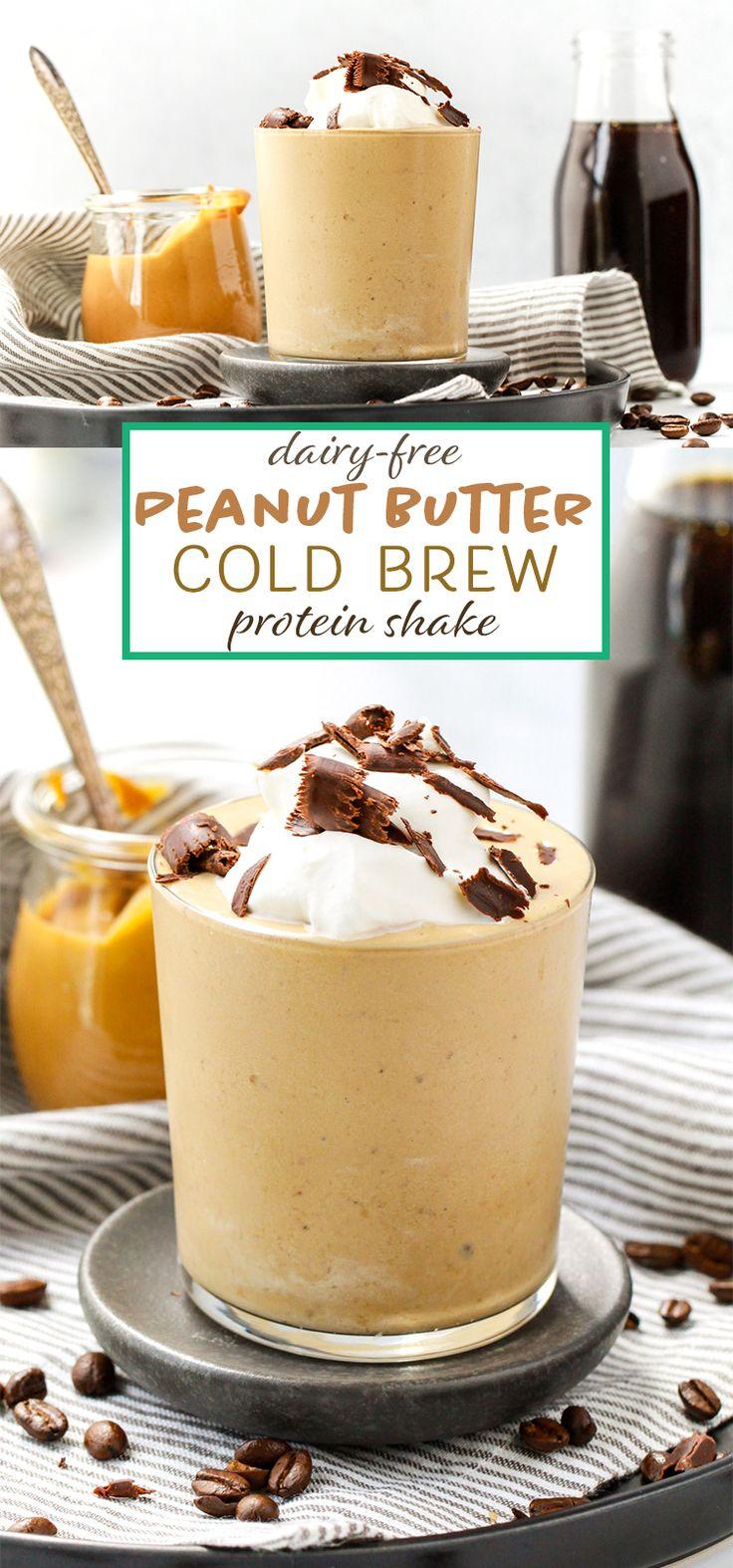 Dairyfree peanut butter cold brew protein shake peanut