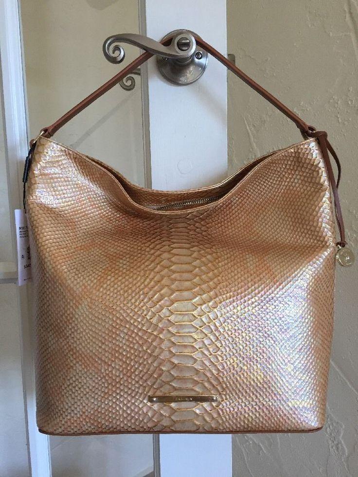 Brahmin Large Harrison Hobo Fire Opal Seville Leather Shoulder Bag #Brahmin #Hobo